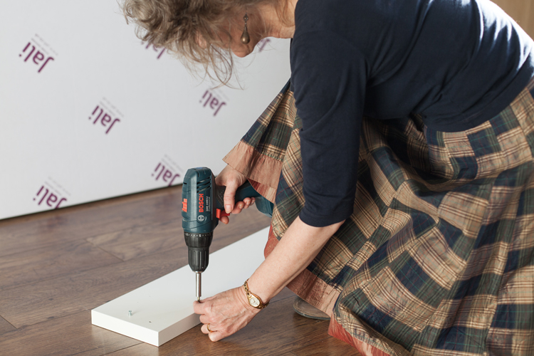 Fitting magnetic catches to the underneath of a Jali radiator cabinet top
